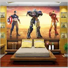 online get cheap 3d wall murals wallpaper spider man aliexpress custom size 3d photo wallpaper kids room mural transformers spider man painting tv background non woven wall paper for walls 3d