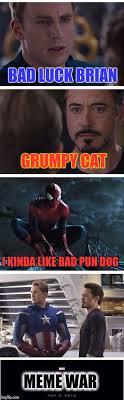 Memes Bad Luck Brian - bad luck brian grumpy cat i kinda like bad pun dog meme war meme