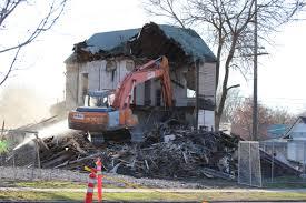 video wrecking crew tears down the stewart house in boise u0027s