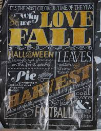 fall themed chalkboard our cape on cabot road