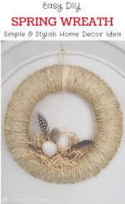 diy spring wreath tutorial easy bird u0027s nest wreath