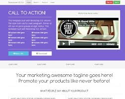 landing page responsive video bootstrap 3 0 bootstraptor