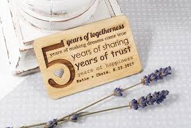 wood gifts for him custom wooden wallet insert card fifth wedding anniversary gift