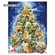 aliexpress com buy zooya diamond painting christmas tree covered