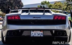 Funny Vanity Plates Luxury Cool License Plate Names For Fast Cars You Never Seen