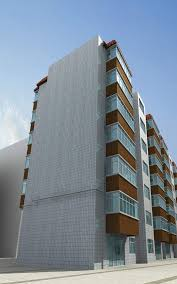 Modern Buildings Modern Buildings With Balconies And Decor 3d Model Max 3ds