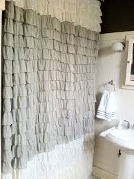 Curtain Ideas For Bathroom Bathroom Bella Notte Linen Whisper Ruffle Curtains In White For