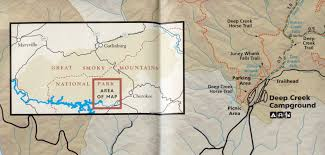 Gatlinburg Map Great Smoky Mountains Deep Creek N2backpacking Com
