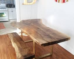Walnut Slab Table Wood Slab Table Etsy