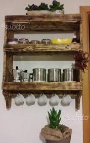 portaspezie legno porta spezie artigianale con legno di pallet arredamento e