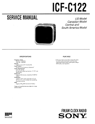 sony icf c122 service manual immediate download