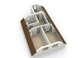 floor planner 3d floor plan of an attic made with floorplanner attic