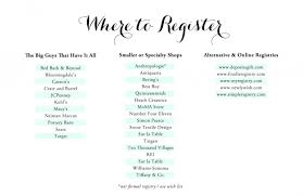 bridal registration wedding registry list ideas cool navokal