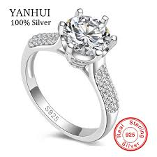 wedding ring brand luxury silver wedding rings brand jewelry sona 8mm cz
