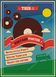 Games For Cocktail Parties - vintage music retro hippie cocktail party poster vector design