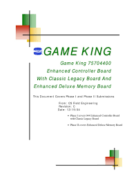 igt game king manual game king 044 board rev c pdf electrical connector booting