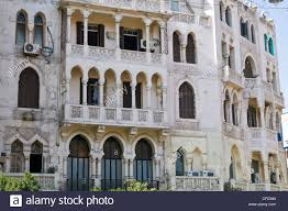 wealthy shopping district of korba heliopolis cairo displaying a