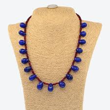 ruby beads necklace images 18 kt yellow gold necklace composed of sapphire and ruby beads jpg