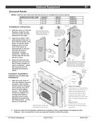 optional equipment 31 surround panels installation instructions