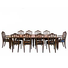 anglo indian or british colonial teakwood extending dining table