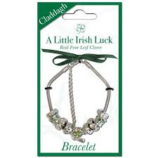silver plated charm bracelet images Silver plated charm bracelet with clover in a claddagh charm jpg
