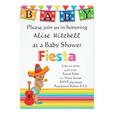 mexican baby shower invitation zazzle