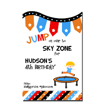 spiderman party invites trampoline party invitation sky zone birthday invitation