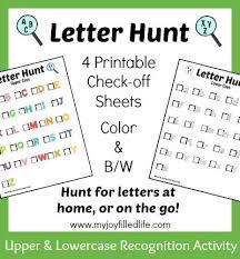 printable alphabet recognition games printable letter scavenger hunt sheets letter recognition games