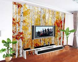 silver birch autumn tree leaves photo mural landsacpe for living silver birch autumn tree leaves photo mural landsacpe for living room sofa tv background wall decor painting wallcoverings in wallpapers from home