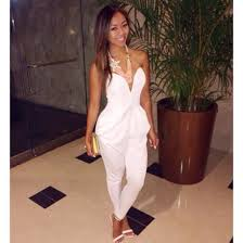 all white jumpsuits jumpsuit romper t shirt top top bustier bra bralette