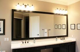 Framing Existing Bathroom Mirrors Mirror Design Ideas Hanging Finished Custom Bathroom Mirrors