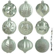 silver christmas silver christmas ornaments christmas tree decorations the