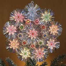 Star Christmas Tree Toppers Lighted - multi color star tree topper capiz star tree topper multi color