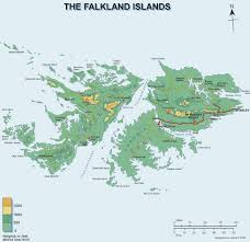 Physical Map South America by Falkland Islands Map South America