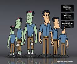 zombie bods u2013 character templates game art
