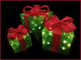 outdoor lighted gift boxes lighted presents christmas outdoor get minimalist impression b