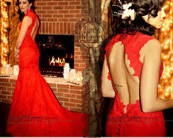 Red Wedding Dresses Red Wedding Dress Etsy