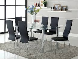 Where To Buy Dining Table And Chairs Amazon Com Furniture Of America Novae 7 Piece Dining Set With