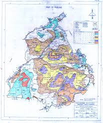 Punjab India Map by Department Of Irrigation Government Of Punjab