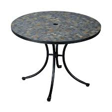 lowes table l set shop home styles stone harbor 39 5 in w x 39 5 in l round steel