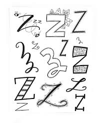 z from mrs arnoldsartroom doodles pinterest fonts doodles