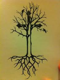 illustration of cross inside tree search church
