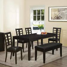 bench dining room set black dining room set with bench caruba info