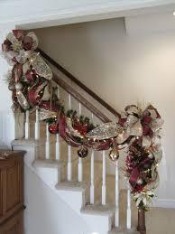christmas stairway garland u0026 post swag set lighted banister