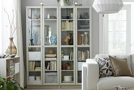 inspiring contemporary bookcases with glass doors 28 with