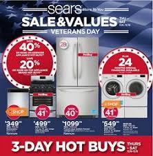 black friday appliance sale sears veterans day sale nov 06 nov 15 2014 kenmore refrigerator