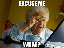 Excuse Me Meme - excuse me what meme grandma finds the internet 66641