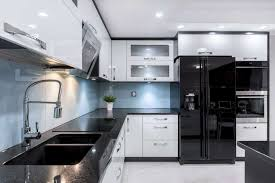 black kitchen countertops with white cabinets what color cabinets with black granite countertops home