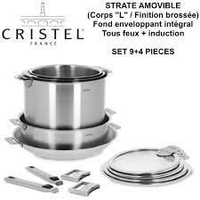 batterie de cuisine cristel strate batterie de cuisine set de 9 4 pièces amovible