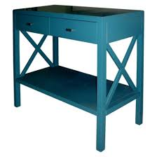X Console Table Teal X Console Table Everything Turquoise